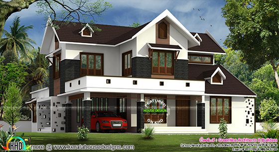Cute modern home with dormer windows