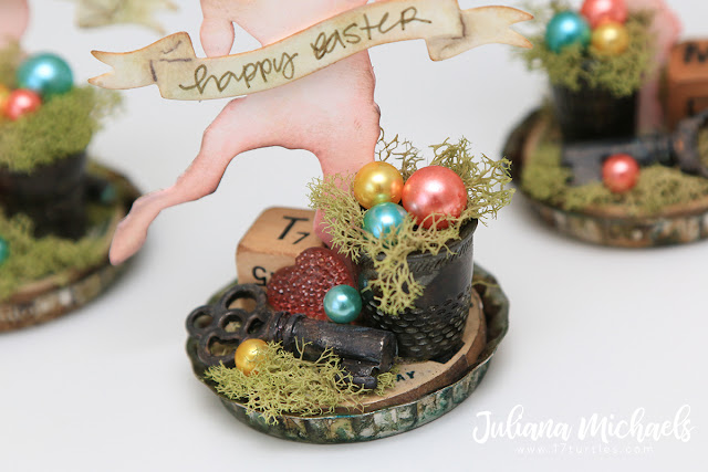 Happy Easter Placeholders by Juliana Michaels featuring Tim Holtz Sizzix Chapter 1 Bunny Hop Thinlit Die