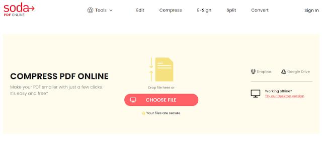 Soda PDF Free Online Convert dan Kompres PDF