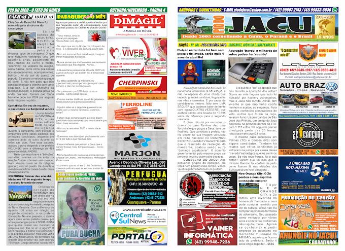 Leia a edição 181 do Jacu – Pós eleições 2020