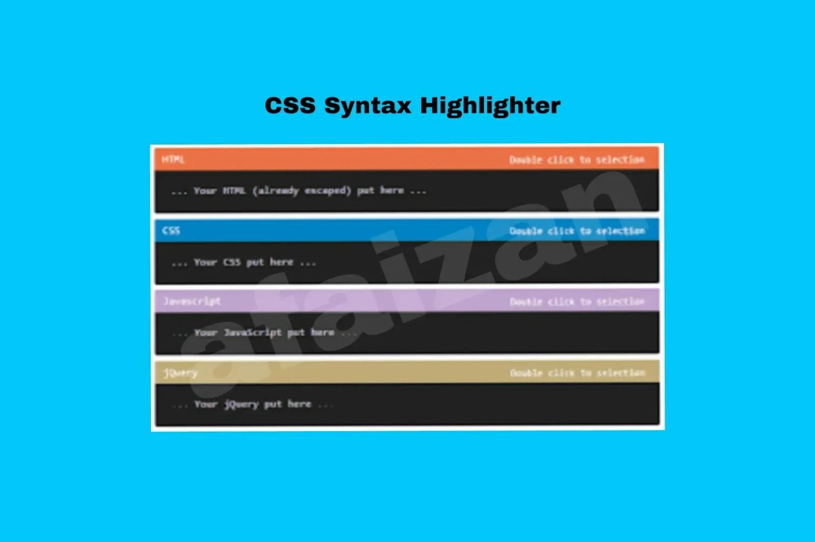 Memasang Kotak Kode CSS Syntax Highlighter Dalam Postingan