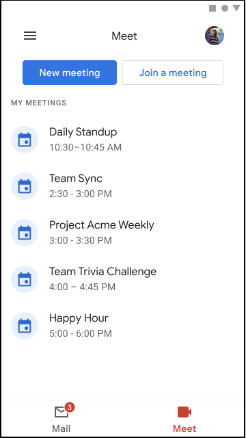 Coming soon: Google Meet in Gmail on Mobile 1