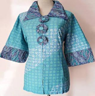 Baju Batik Kerja Wanita Big Size