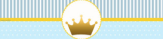 Etiquetas para Imprimir Gratis de Corona en Fondo Celeste.
