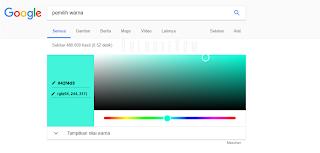 mengkonversi warna di google