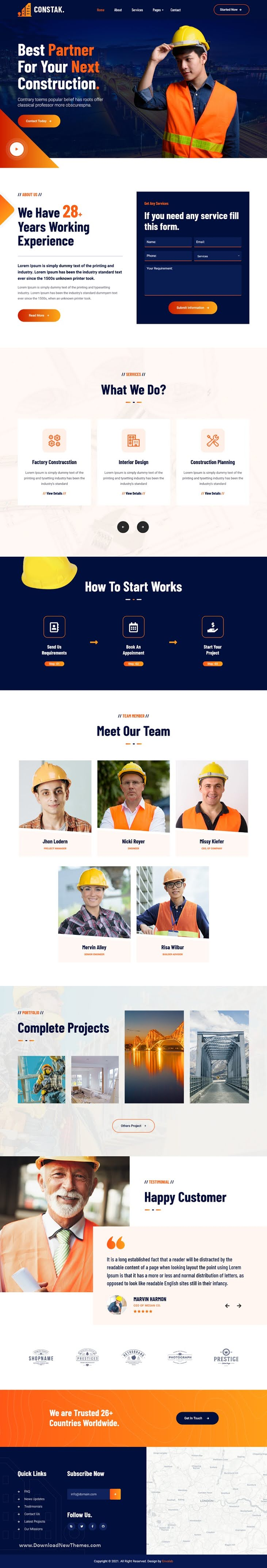 Construction Bootstrap Template