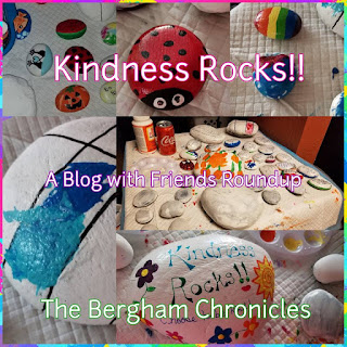 Blog With Friends, a multi-blogger project based post incorporating a theme, Rock It | Kindness Rocks by Jules of The Bergham Chronicles| Featured on www.BakingInATornado.com