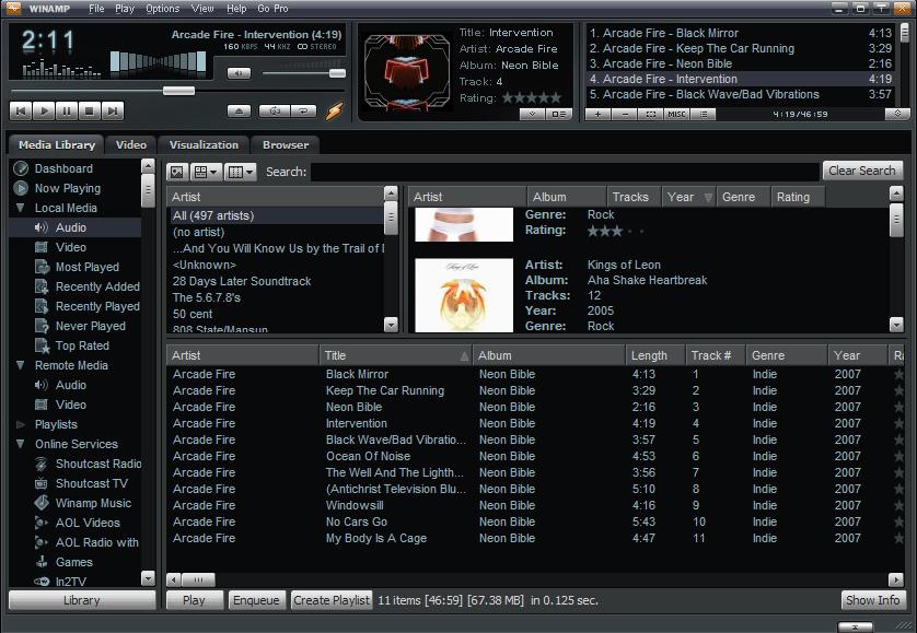 Winamp - Aplikasi Pemutar Musik PC Terpopuler