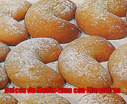 Dulces de Media Luna con Almendras