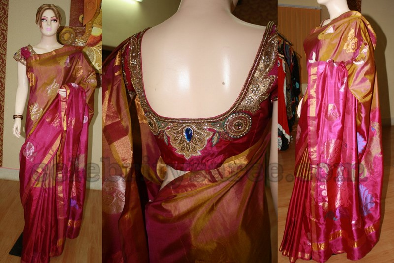 76c7b138ad6b1 Pure Uppada Saree with Heavy Work Blouse. - Saree Blouse Patterns