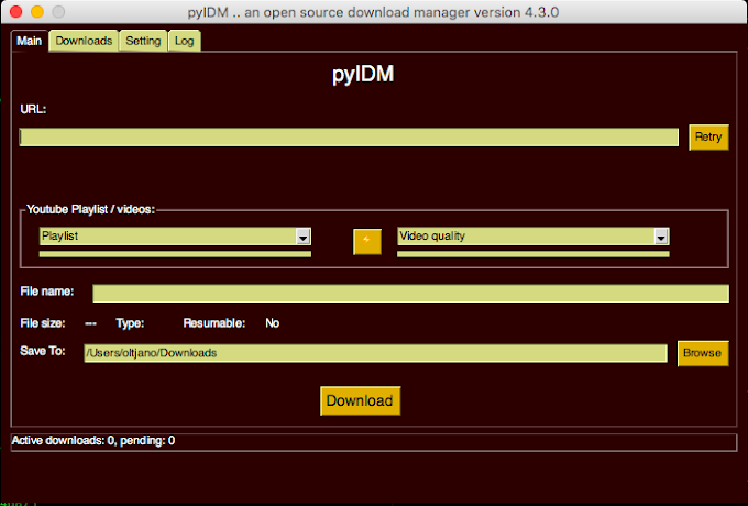 An open source alternative to Internet Download Manager written in Python, pyIDM