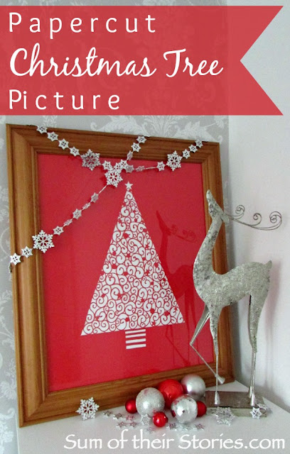 Papercut Christmas Tree Picture