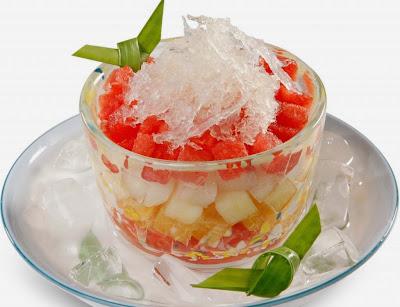 tổ yến bình dương, cách nấu món chè yến trái cây
