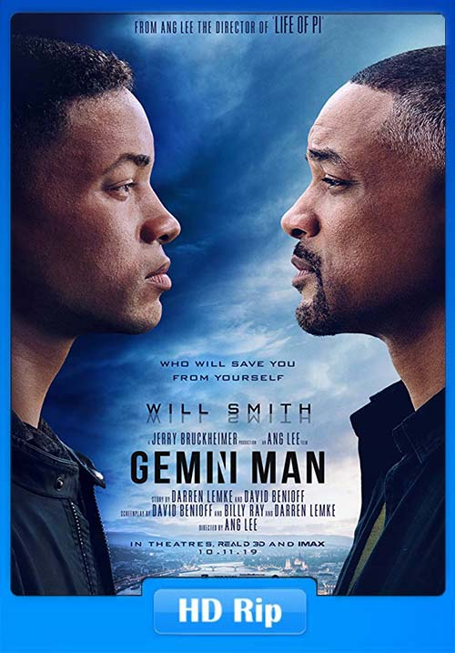 Gemini Man 2019 Hindi 720p HDRip Eng Dual Audio x264 | 480p 300MB | 100MB HEVC