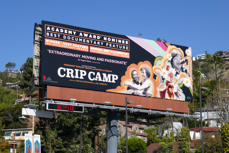 Crip Camp Oscar nominee billboard