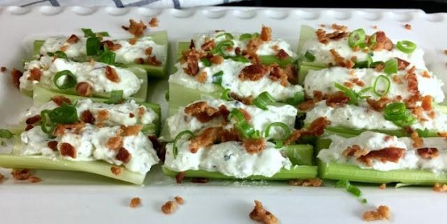 Outrageously Good Stuffed Celery #lowcarb #keto