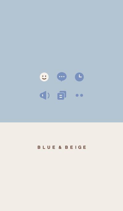 Blue & Beige.