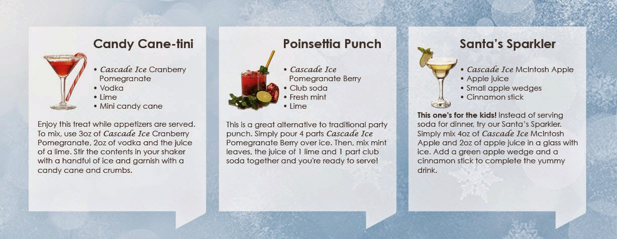 Ho-Ho-Holiday Cocktails & Punch Recipes by #CascadeIceWater via www.productreviewmom.com
