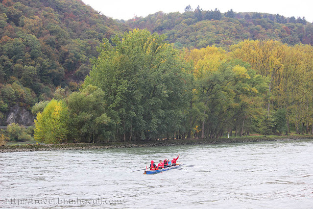Kayaking in Rhine river Germany