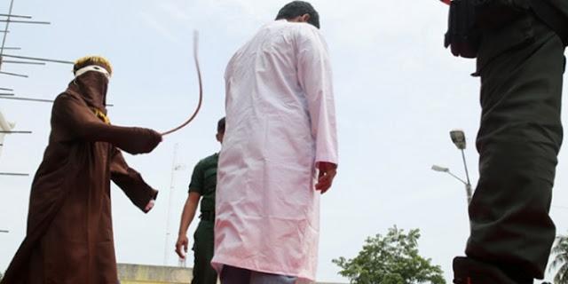 Jalani Hukuman Cambuk, 12 Pelanggar Syariat Islam di Aceh dinyatakan Bebas