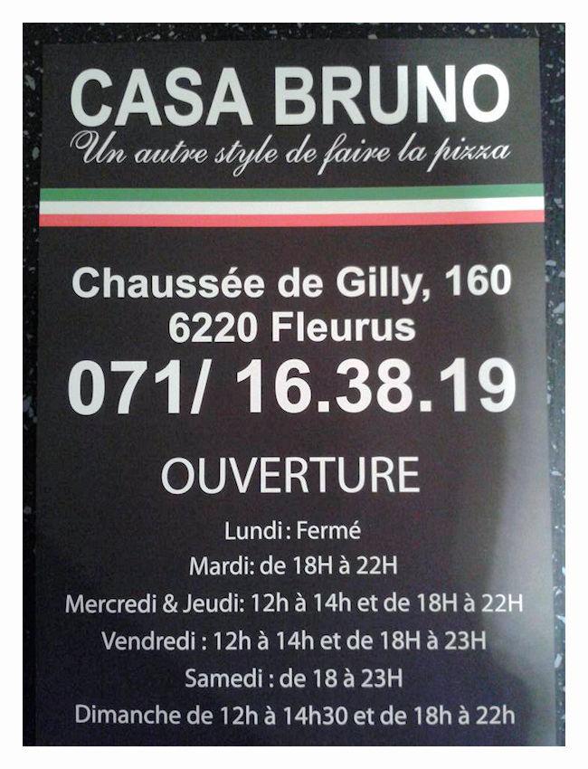 Le monde de necile casa bruno pizzeria restaurant italien fleurus - La cuisine de bruno ...