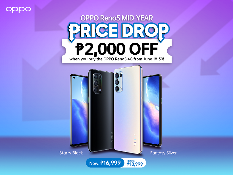 OPPO Reno5 4G Made More Affordable at ₱16,999, Limited-time Offer