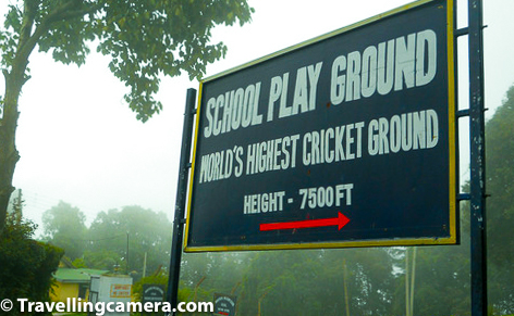 When seen from a purely tourist perspective, Chail doesn't have too much to do. However there are several hidden treasures that are worth exploring. One of them is the World's highest cricket ground. I have a suspicion that the place would have been quite dull if the weather wasn't so magical. The board indicating that this is indeed the world's highest cricket ground at 7500 feet from the sea level. The cricket ground is used by the Chail Military School, which is close to capital city of Himachal Pradesh, Shimla. The ground was built in 1893 and is still frequently used and well-maintained.