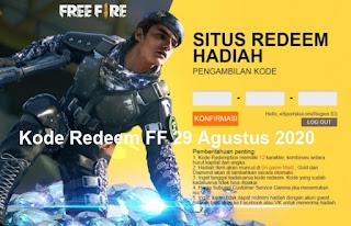 Kode Redeem FF 29 Agustus 2020