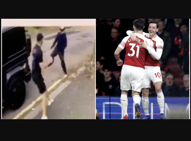Arsenal's Mesut Ozil and Sead Kolasinac face carjacking gang