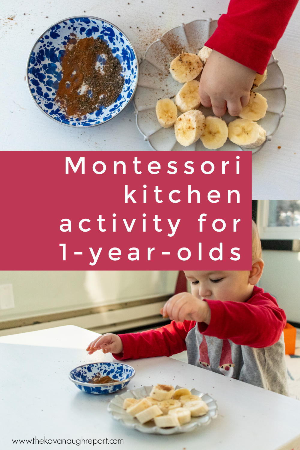 This simple Montessori kitchen activity is perfect for 1-year-olds. Here is one easy way to help your Montessori toddler get into practical life work!