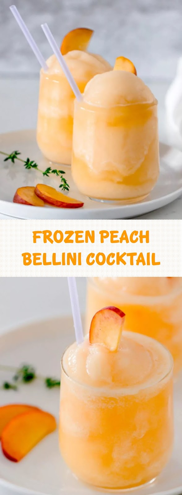 FROZEN PEACH BELLINI COCKTAIL