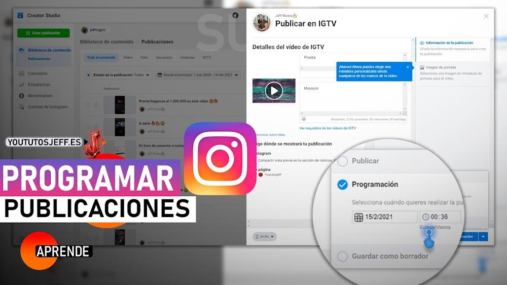 Programar Publicaciones de Instagram con Creator Studio