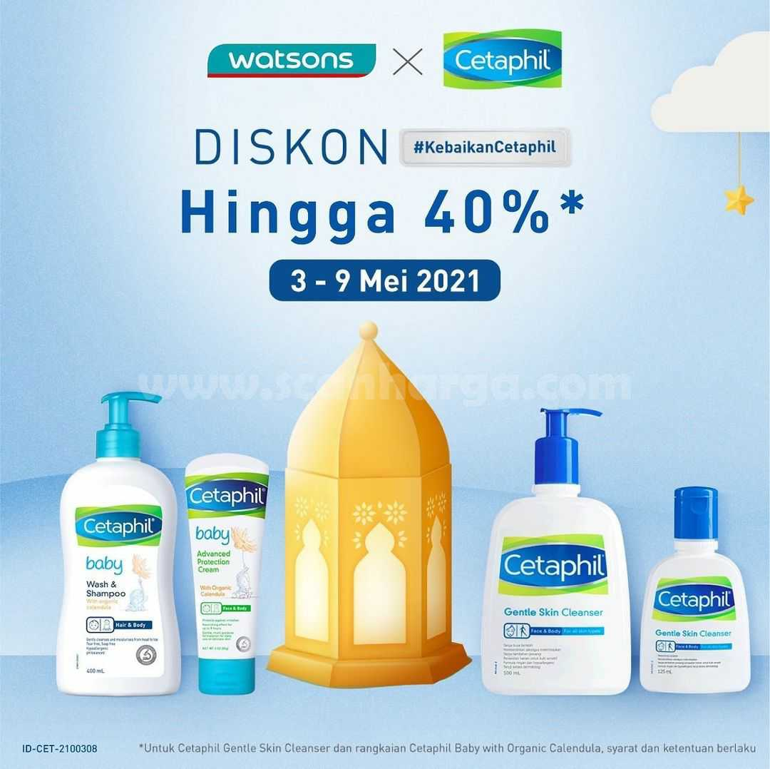 Watsons x Cetaphil Promo Diskon hingga 40%