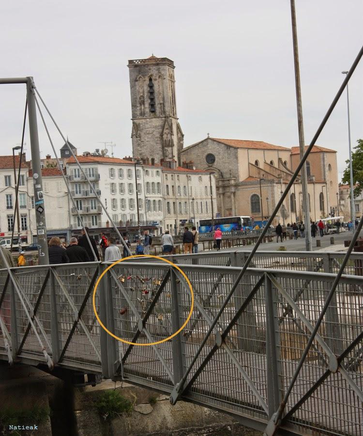 La Rochelle et sa petite passerelle (quai du Gabut)