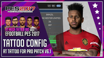 PES 2017 Mega Tattoo Pack For Professionls Patch V6+ by Rean Tech