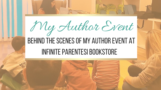 My Author Event: Behind the scenes of my author event at Infinite Parentesi bookstore