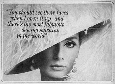 singer sewing machine ad from the 1960s
