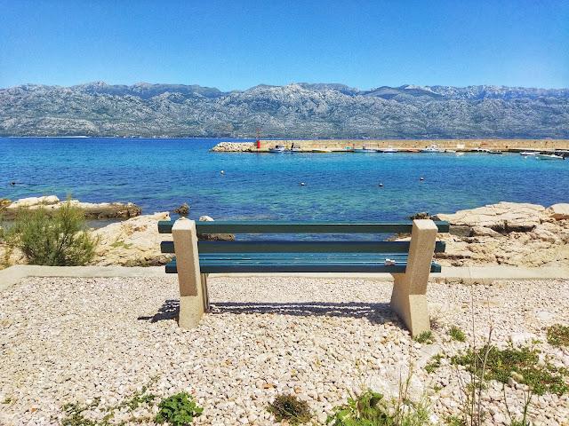 widok na góry Velebit, morze, Chorwacja,