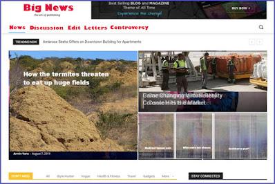 news blog design idea