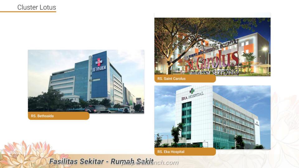 Fasilitas sekitar Cluster Lotus Tangerang