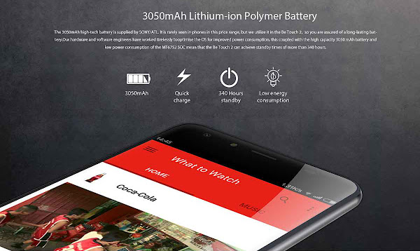 Ulefone Be Touch 2 - Battery