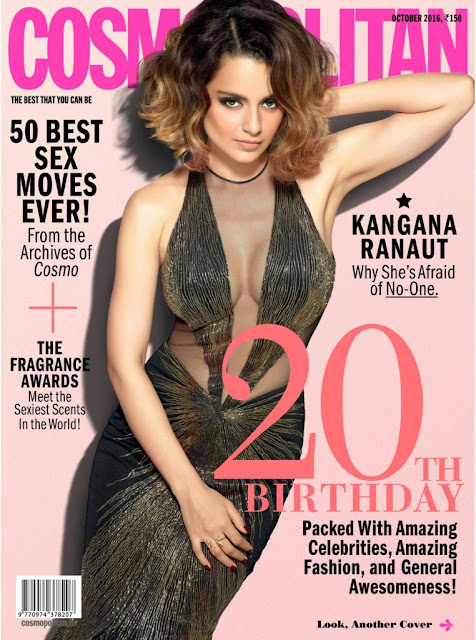 Sizzling Kangana Ranaut on Cosmopolitan Magazine October 2016