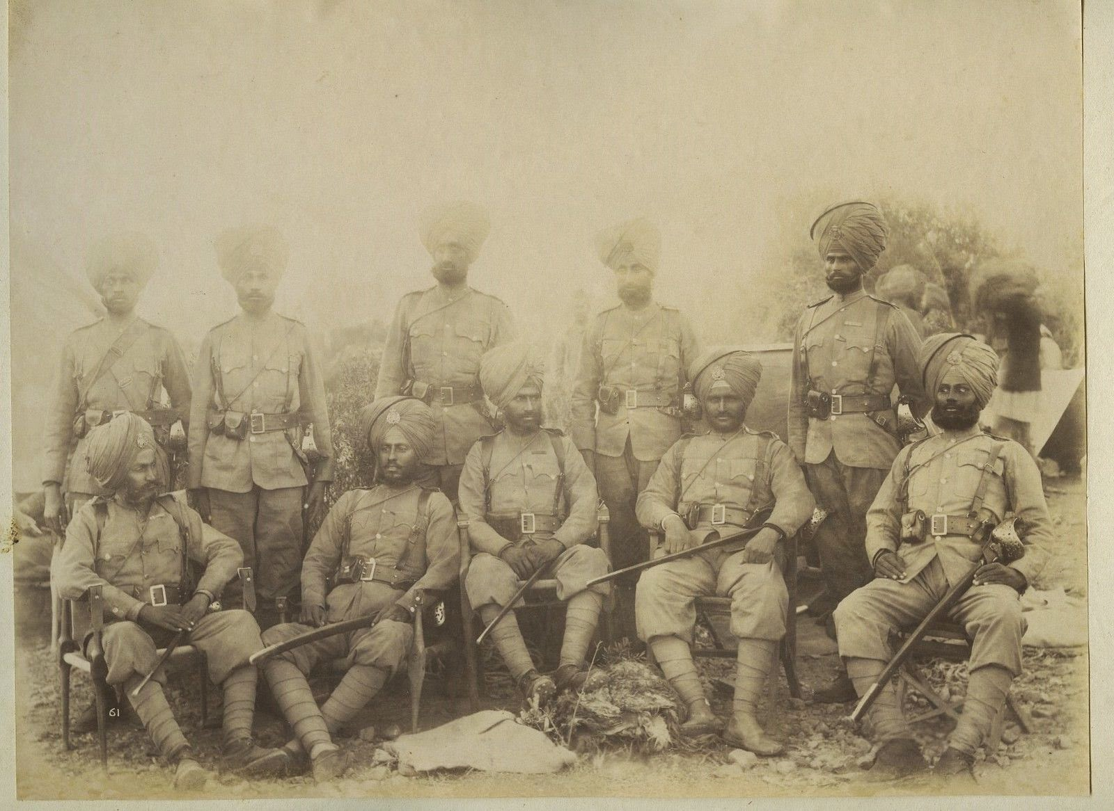 Indian Military Officers of 36th Sikh Regiment