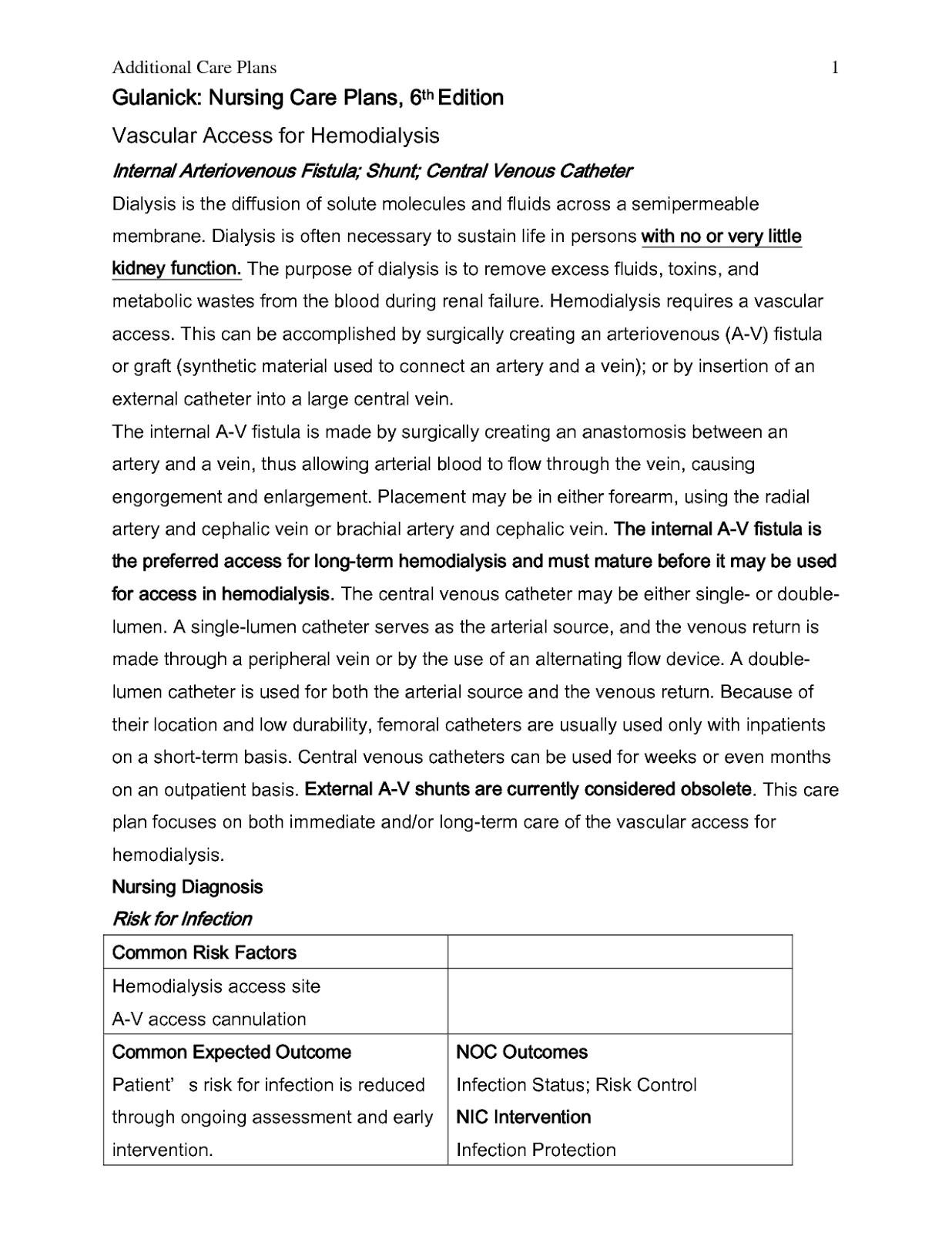Cellulitis Nursing Care Plan Nursing Care Plan Examples