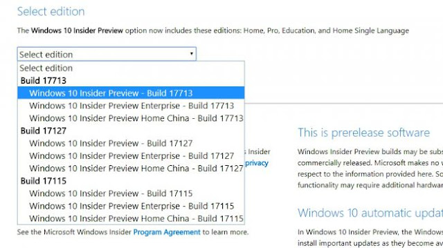 How to Download Windows 10 Redstone 5 ISO Build 17713 - Pcnexus