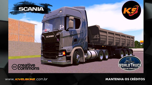 SCANIA S730 - THE FLYING GRIFFIN CINZA