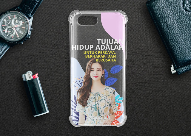 Mockup Case Anti Crack Realme C2