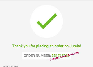 Order placed successfully on Jumia