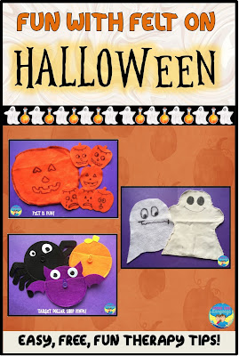 Get great results using felt in play with your young language delayed students this HalloweenQ