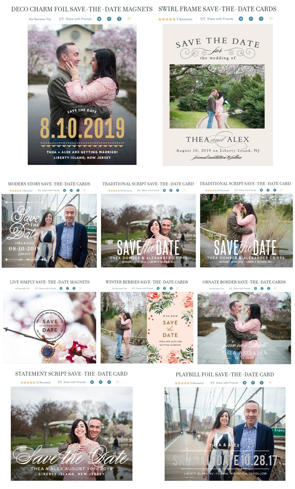 Wedding Wednesday :: Pretty & Smart Save the Dates with Basic Invite :: Effortlessly With Roxy